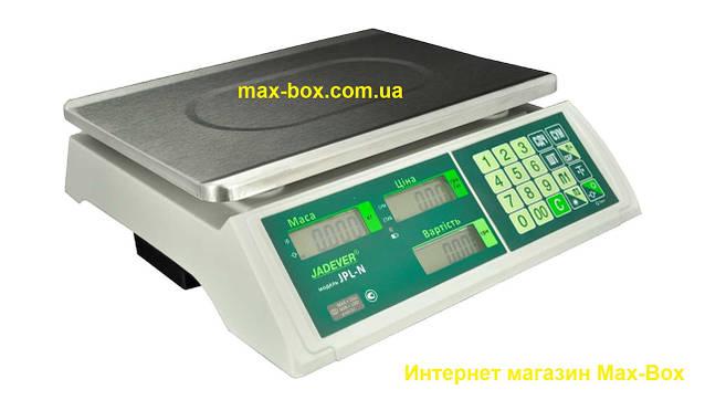 Весы настольные торговые с поверкой 15 кг JPL-N 15 LCD/LED