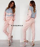 Костюм модный повседневный двухцветный свитшот и штаны Kc884