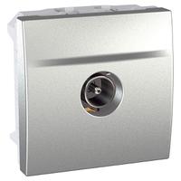 Розетка ТВ механизм со штыревым разъемом Алюминий Unica Schneider, MGU3.462.30
