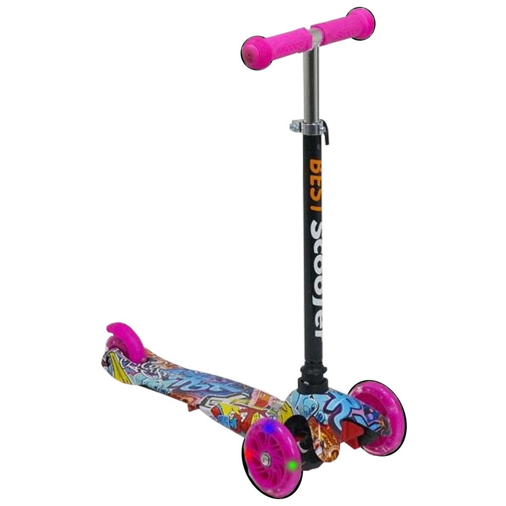 Самокат Best Scooter 1295 Розовый Mini 54661