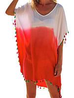 Лентяя женская туника - пончо для пляжа, фото 1