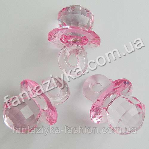 Декоративный кристалл Соска розовая 40мм