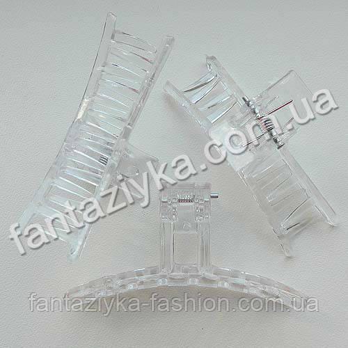 Прозрачный краб для волос 6,5см