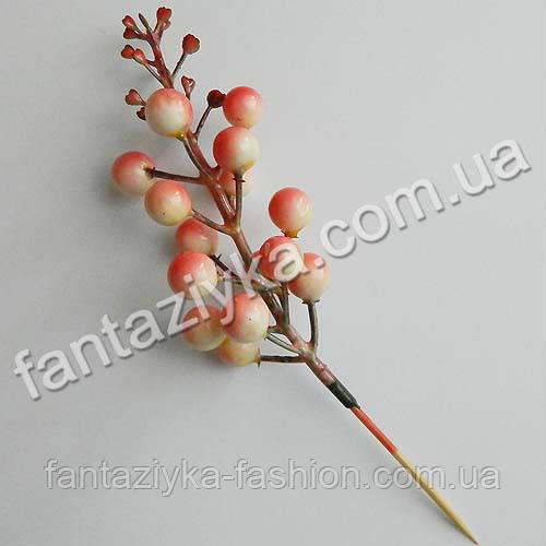 Декоративные ягоды на шпажке 8-12мм, розовые