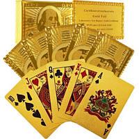 Игральные карты  покерные (золото) 100 долларов