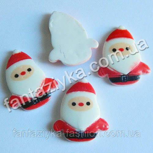 Серединка для декора, Дед Мороз маленький 24мм