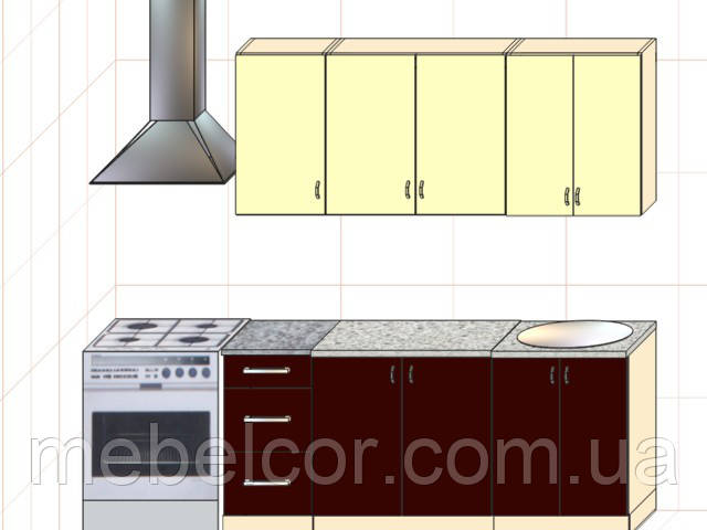 """Кухня """"Модерн"""" длина 1,8 м - вариант №2"""