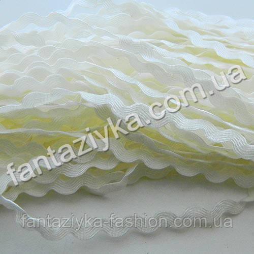 Тесьма декоративная Зиг-Заг, Вьюнок 5мм, кремовая
