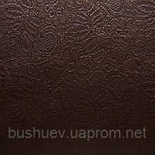 Атлас стрейчевый с жаккардовым рисунком (2137) Шоколадный