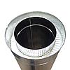 Труба (сэндвич) нержавейка Ø200/260 0,25м 0,5мм в оцинковке, фото 3