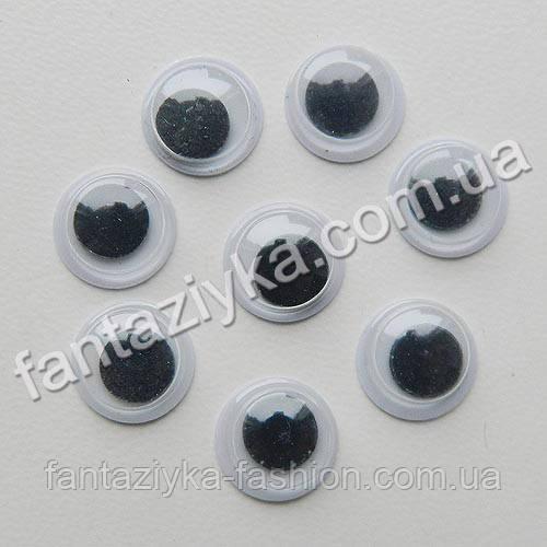 Круглый глаз для игрушек 8мм с подвижным зрачком