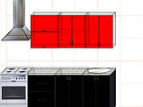 "Кухня ""Модерн"" длина 1,8 м - вариант №3, фото 2"