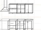 "Кухня ""Модерн"" длина 1,8 м - вариант №3, фото 3"