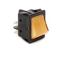A14S Выключатель с подсветкой прямоугольный желтый