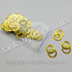 Пайетки декоративные Обручальные колечки золотые, 2г