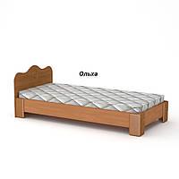 Кровать 100 МДФ Компанит Односпальная кровать  Ольха