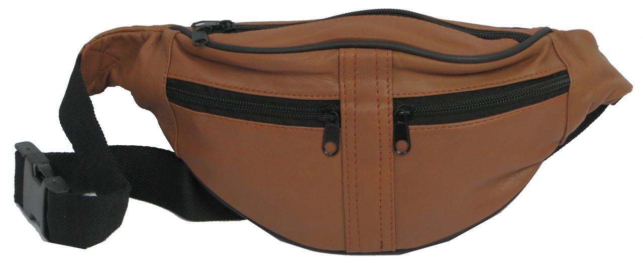 Поясная кожаная сумка Cavaldi 901-353 cognac, коричневый