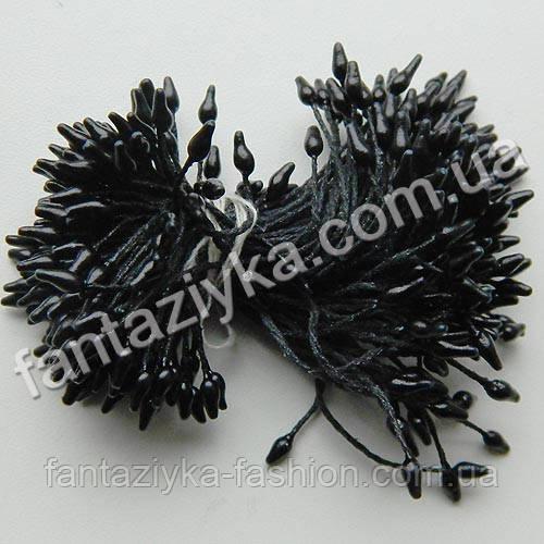 Тычинки для цветов Капелька черные, 50 штук
