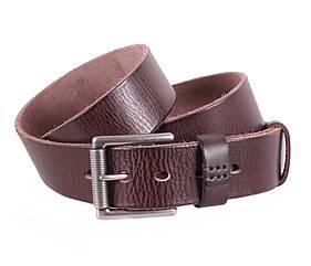 Мужской ремень из натуральной кожи под джинсы BUFF000-11 коричневый