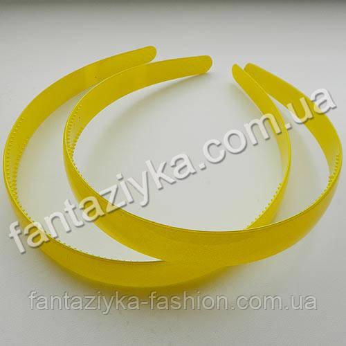 Пластиковый обруч для волос 18мм, желтый