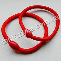 Красная резинка для волос с бусинкой 5см