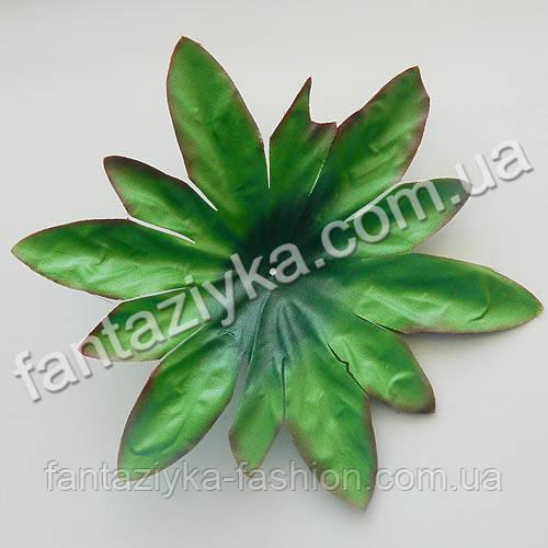 Лист подкладка пион 17см, искусственная зелень