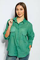 Блузка женская насыщенных расцветок 953K011 (Светло-зеленый)