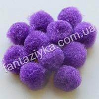 Помпон для рукоделия и декора 13-15мм, фиолетовый