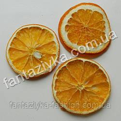 Сушеные дольки апельсина оранжевые, 3 штуки