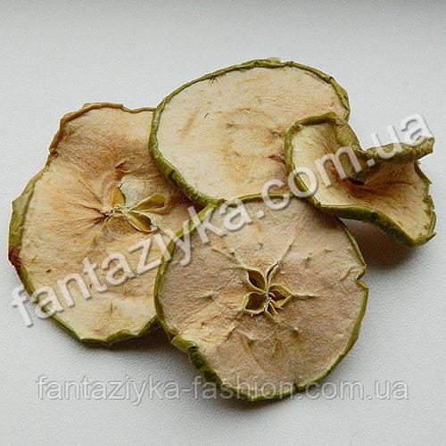 Сушеные дольки яблок зеленые, 4 штуки
