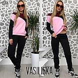 Женский стильный спортивный костюм: свитшот и брюки (4 цвета), фото 6