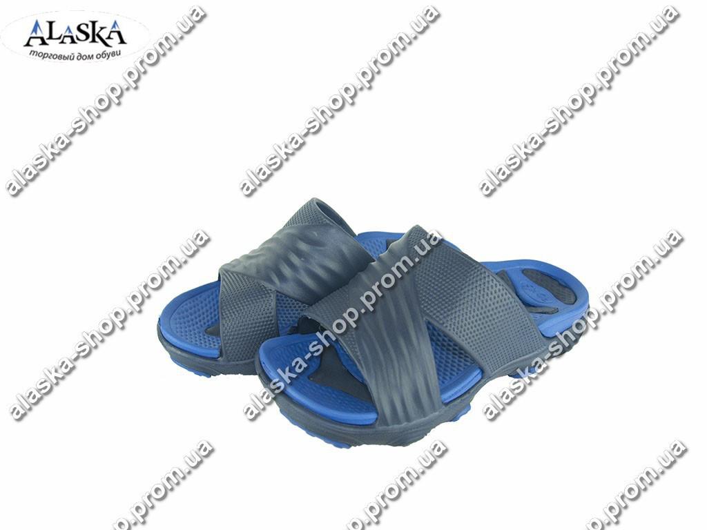 Подростковые шлепанцы  (Код: Роксол 1501 синий )