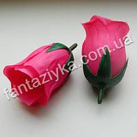 Бутон розы искусственный 5см, фуксия