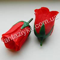 Искусственная роза бутон 5см, красный