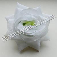 Головка искусственной розы белая 10см