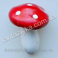 Искусственный гриб мухомор 70мм, красный