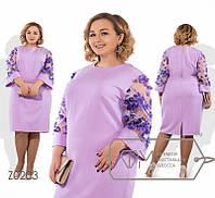 Женское летнее платье больших размеров. Красивое,легкое,свободное,удобное р-56-58, 60-62 цвет фиалка