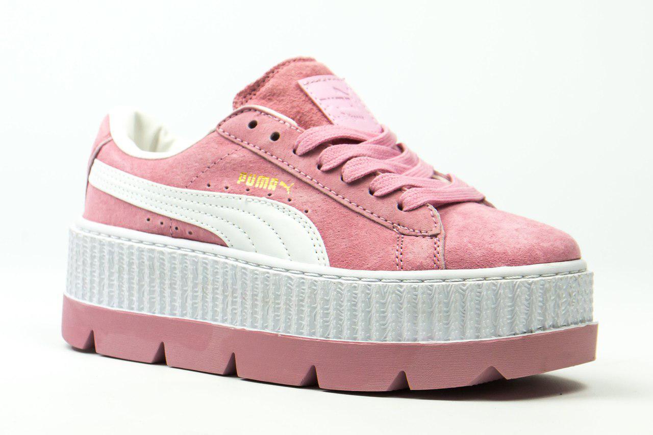 Женские кроссовки Puma x Fenty Cleated Creeper Platform Pink ... 15dfd3f26c1a2