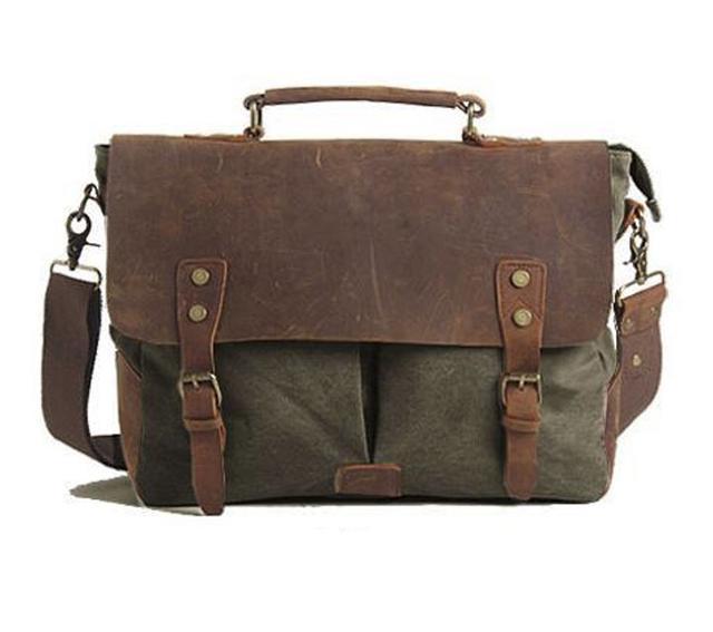 Мужской кожаный портфель Akarmy