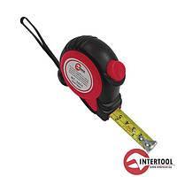 Рулетка InterTool з автоматичним блокуванням полотна на магнітному зачепі-25мм L-7,5м
