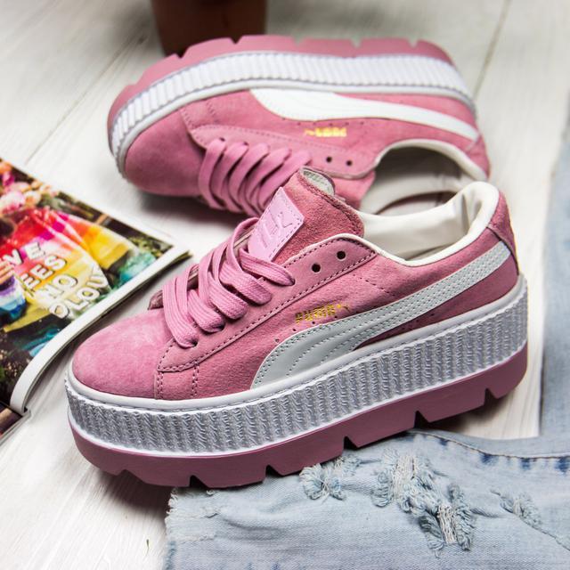 Женские кроссовки Puma x Fenty Cleated Creeper Platform Pink c89bec06b1ee9