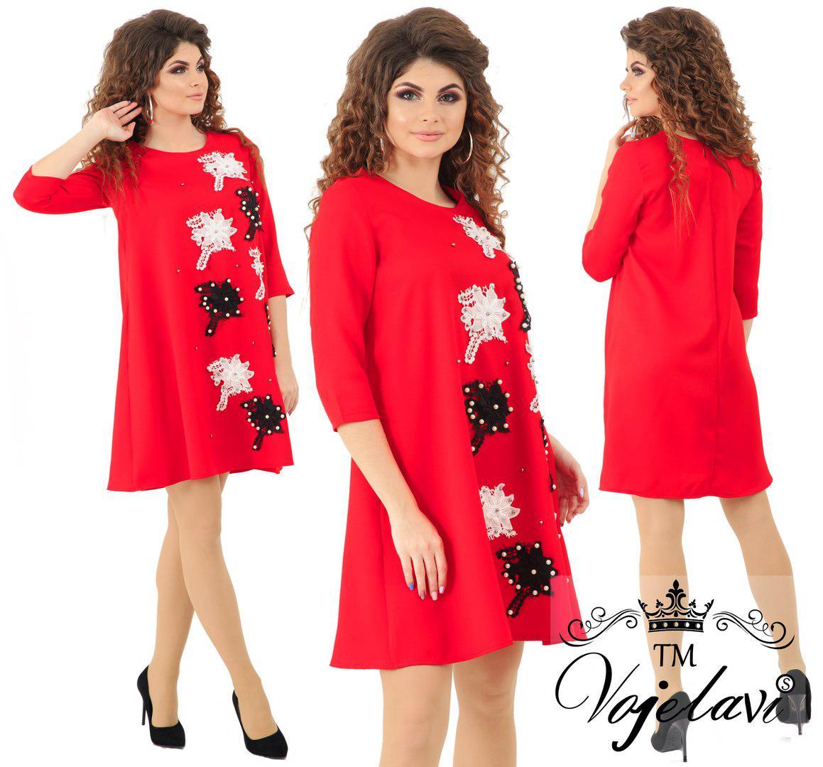 d1707bf27ff Красивое женское платье декорировано жемчугом (4 расцв)  продажа ...