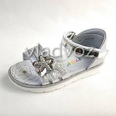 Детские босоножки сандалии для девочек, девочки 28р. серебристый Y.Top