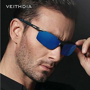 Окуляри чоловічі сонцезахисні поляризовані VEITHDIA Сині