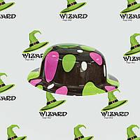 Шляпа Котелок пластик с принтом