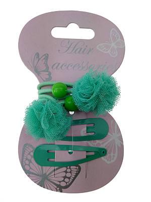 Красивые резинки с заколками для девочки