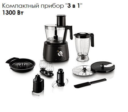 Кухонный комбайн Philips Avance Collection HR7776/90 (3 в 1, 1300Вт), фото 2