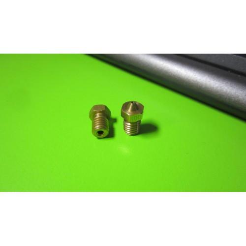 Сопло E3D M6 1мм под нить 1.75 1.75*1мм для 3D-принтера