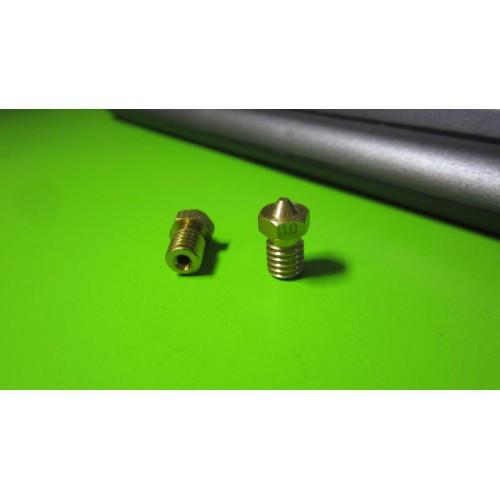Сопло E3D M6 0.1мм под нить 1.75 1.75*0.1мм для 3D-принтера