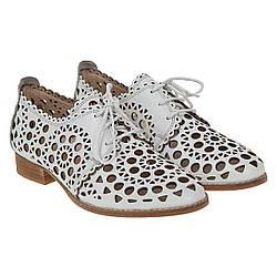 Туфли женские Evromoda(кожаные, легкие, с перфорацией)